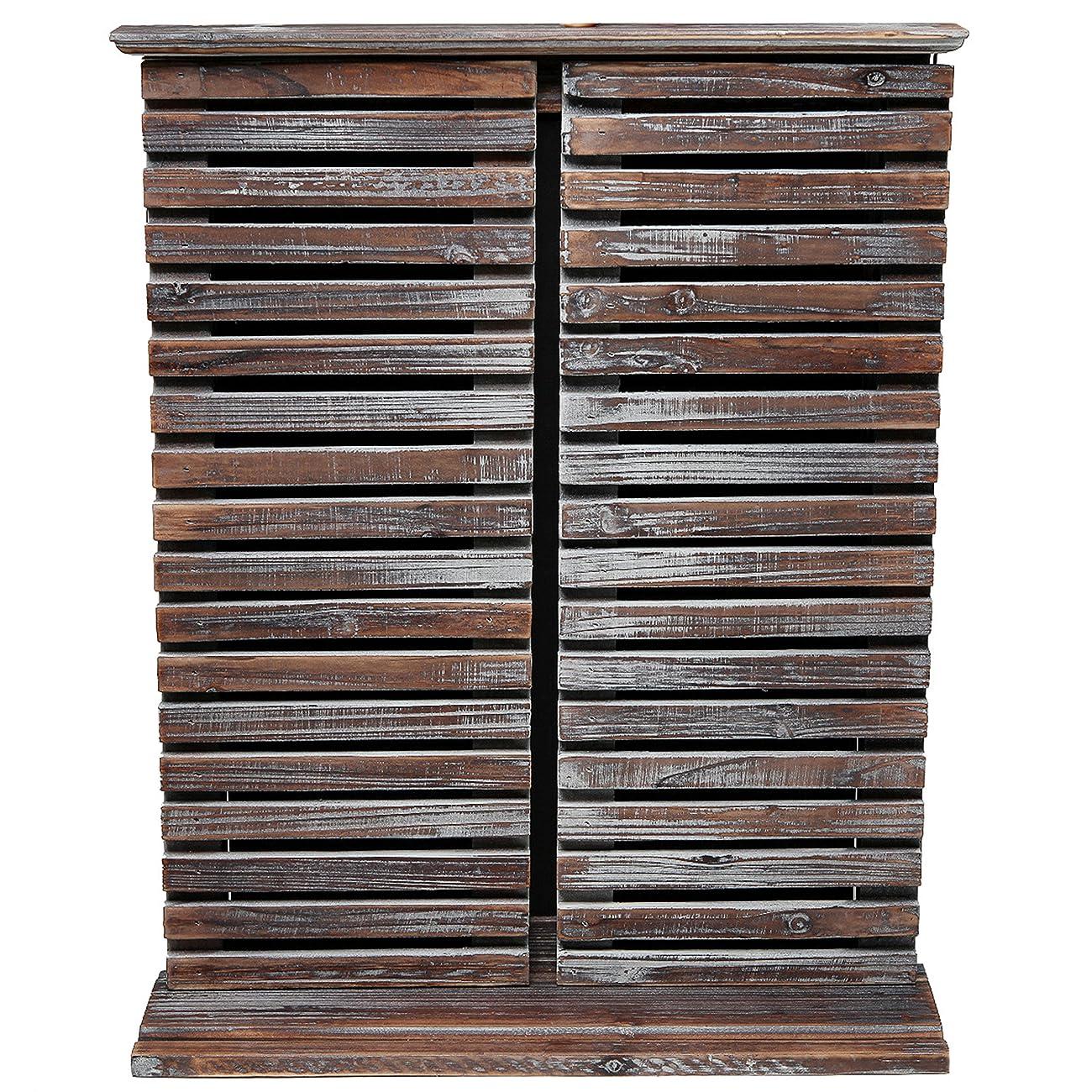 Rustic Vintage Wood Standing Chalkboard / Wall Mounted Blackboard w/ Folding Shutter Doors - MyGift® 2