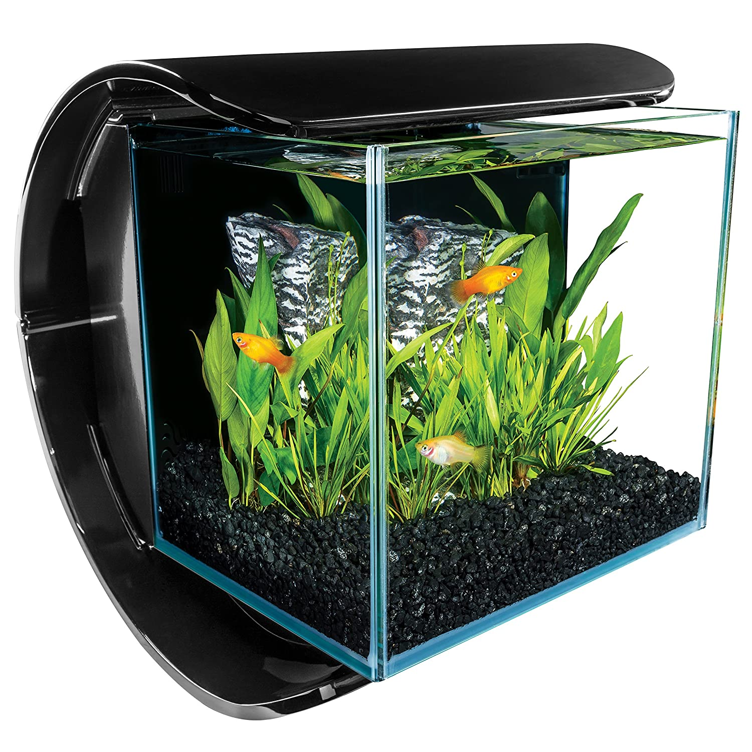 Marineland Silhouette Square Glass Aquarium Kit, 3-Gallon