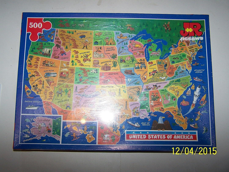 Usa Map Jigsaw Game Level One Usa