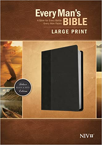 Every Man's Bible NIV, Large Print, TuTone written by Stephen Arterburn