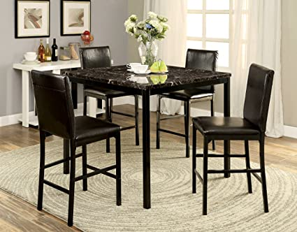 Furniture of America Toledo 5-Piece Contemporary Pub Dining Set