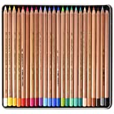 Koh-i-noor Gioconda Soft Pastel Pencils, 24 Assorted (Color: 24 different colored pencils in a silver tin package.)