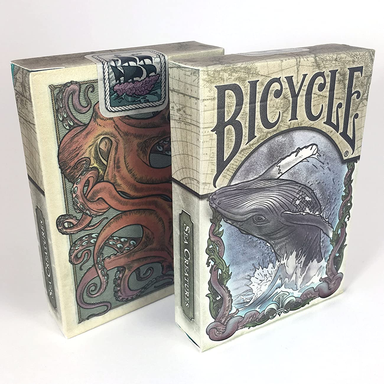 Colorized Sea Creature Themed Bicycle Playing Card Deck, Limited Edition 0