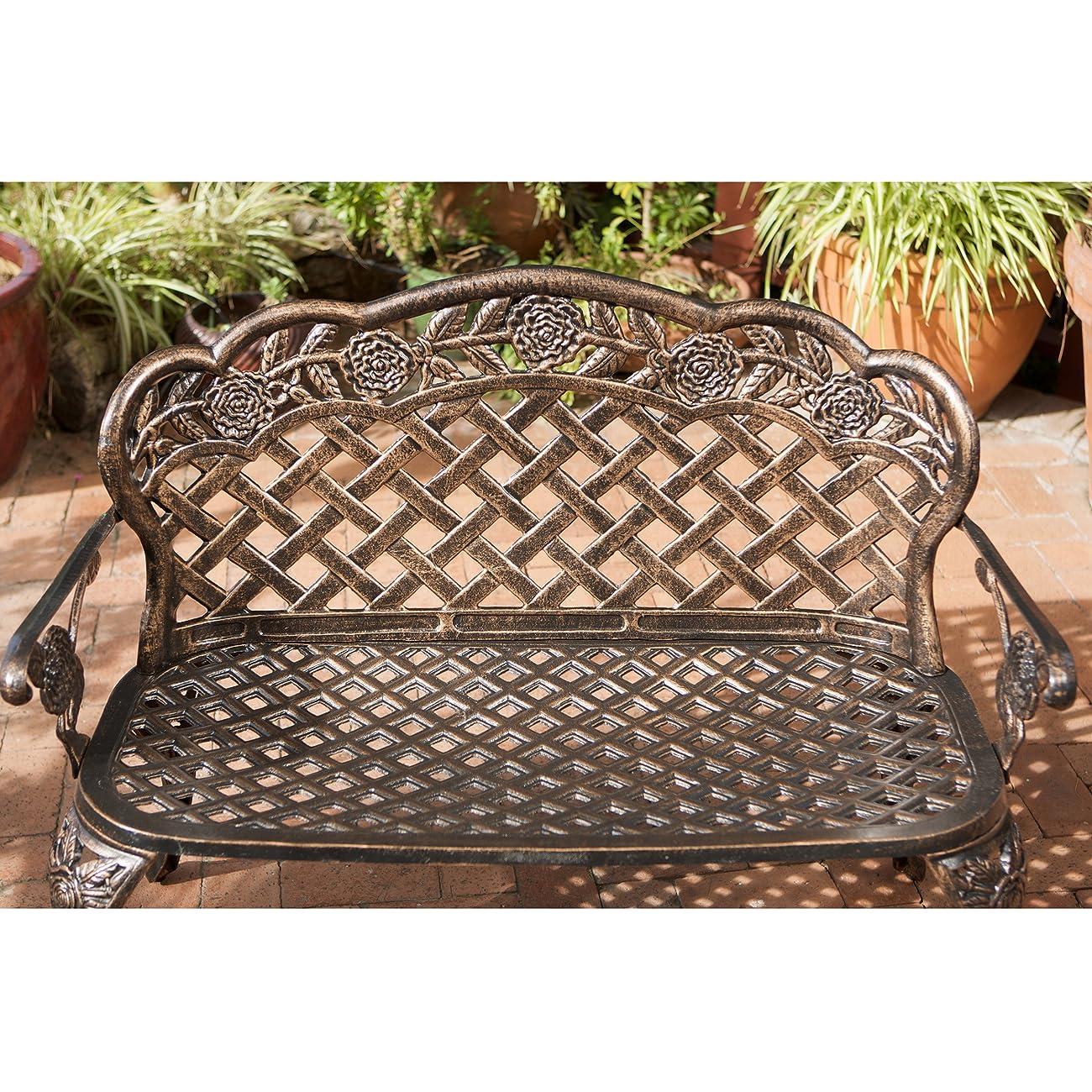 Santa Fe Cast Aluminum Garden Bench 1