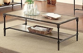 Furniture of America Billie Industrial Coffee Table