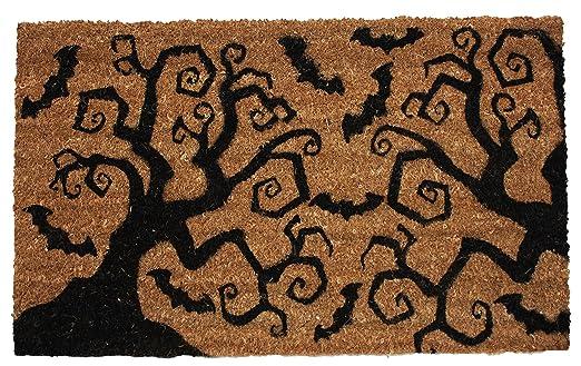 $27.93   Halloween Bats U0026 Trees Vinyl Back Coco Doormat, 18 By 30