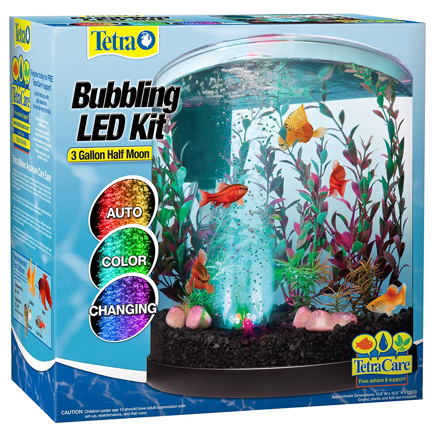 Tetra 3g led bubbler aquarium kit desktop tank just add for Tetra fish tanks