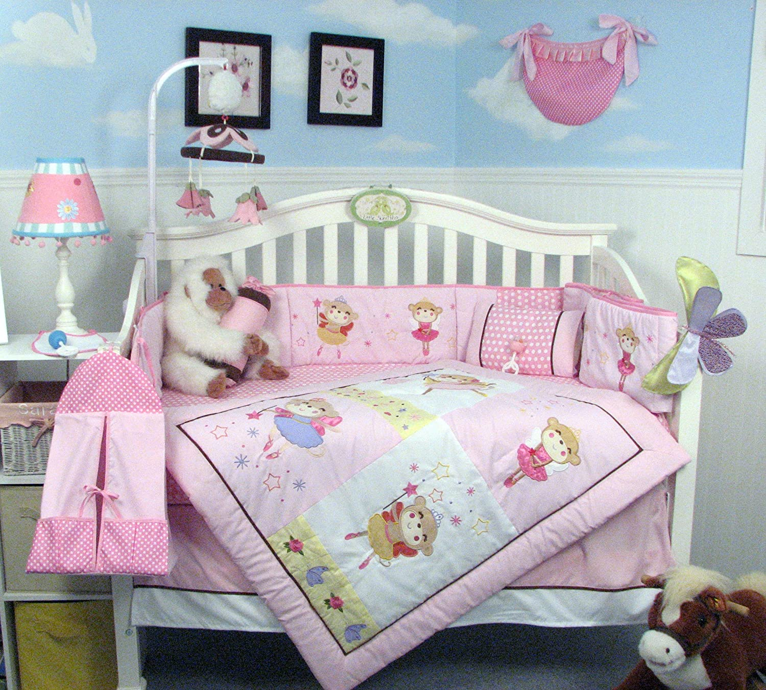 Soho Little Dancing Bears Crib Bedding