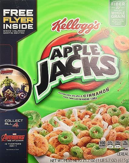 Apple Jacks Cereal Cinnamon Apple Jacks Cereal 21.7-ounce