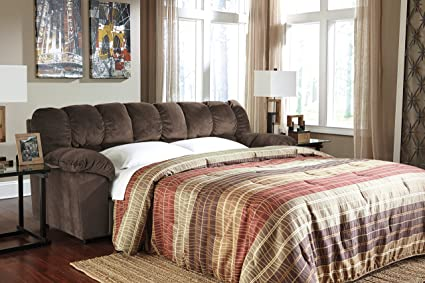 Julson Contemporary Brown Padded Microfiber Full Sofa Sleeper