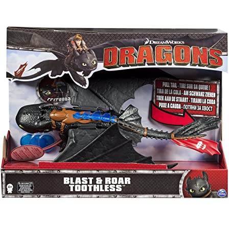 Dragons – Krokmou Tir et Rugie – Figurine Electronique 35 cm + Projectiles