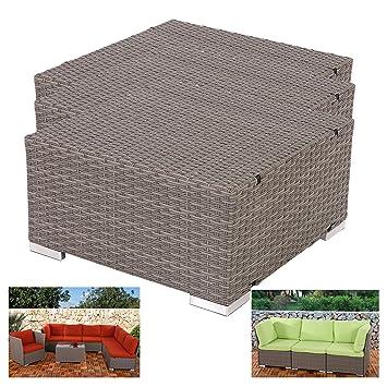 3x module de base pr pr salon de jardin siena - Salon de jardin modulable siena polyrotin ...
