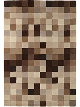 benuta tapis de salon salon moderne boxes pas cher marron 170x240 cm cm sans. Black Bedroom Furniture Sets. Home Design Ideas