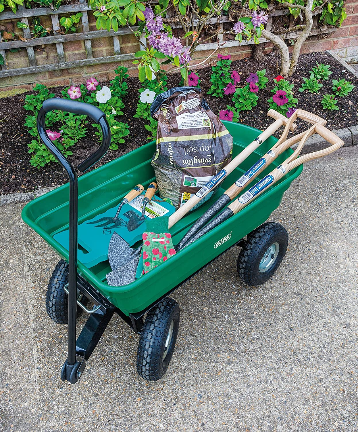 This is a high quality garden trolley cart.