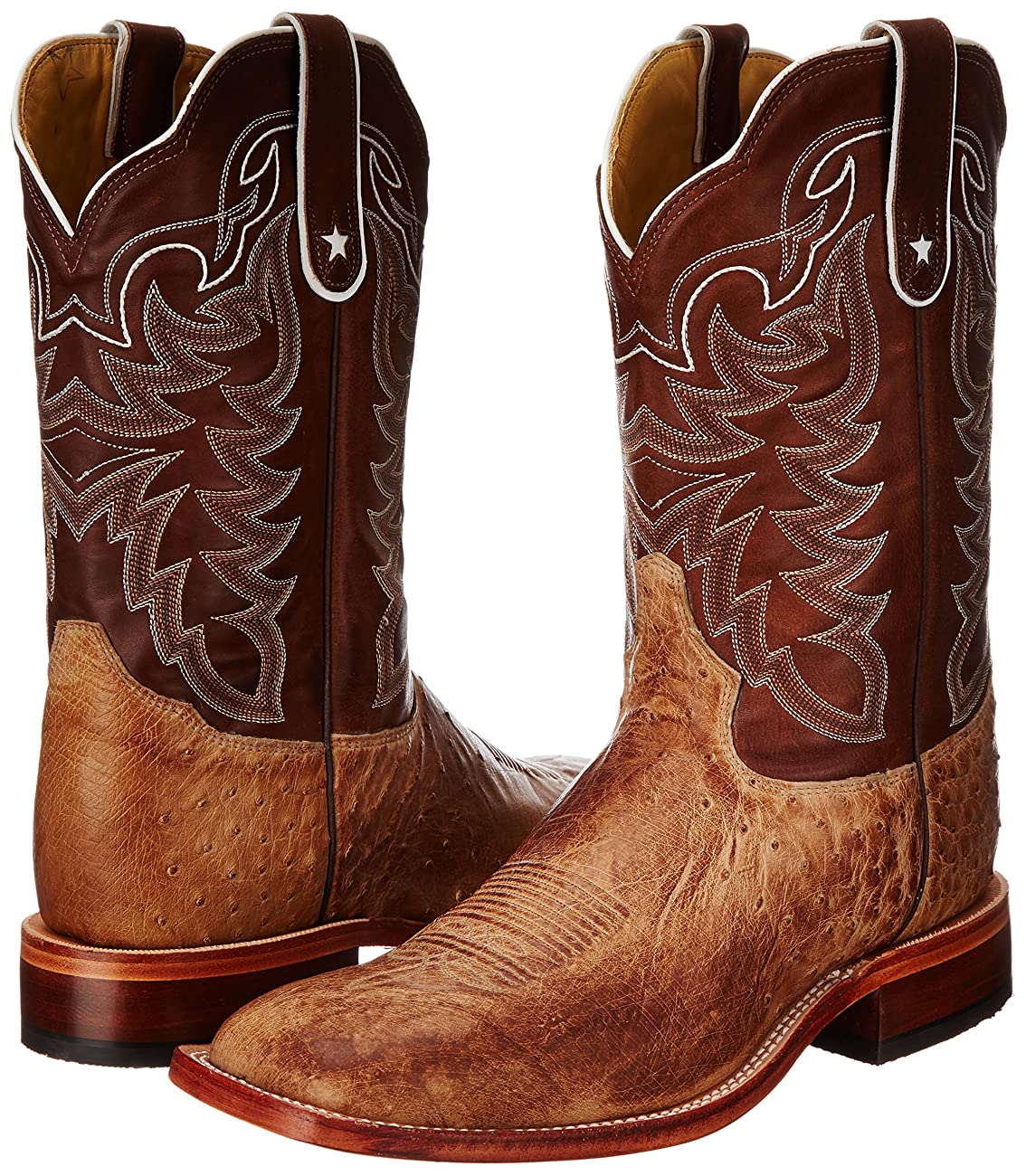 Tony Lama Men's Vintage Smooth Ostrich Western Boot 6