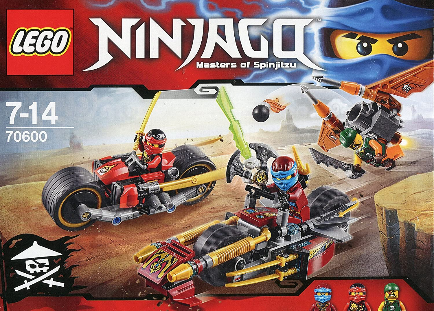 2016 NEW LEGO Ninjago 70600 Ninja Bike Chase - 231pcs Building Kit