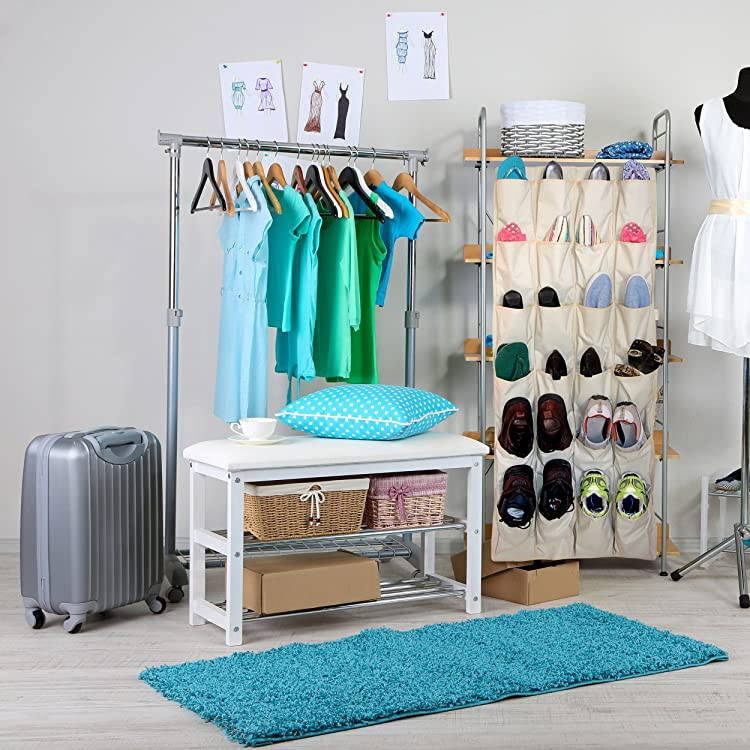 OVER THE DOOR SHOE RACK And Closet Organizer System With 24 Exta Large  Pockets From Aristocrat Homewares Via Amazon