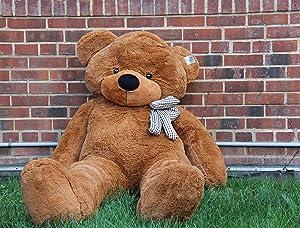 Joyfay 78 Giant Teddy Bear Dark Brown Valentine's Gift (Color: Dark Brown, Tamaño: 78 inch)