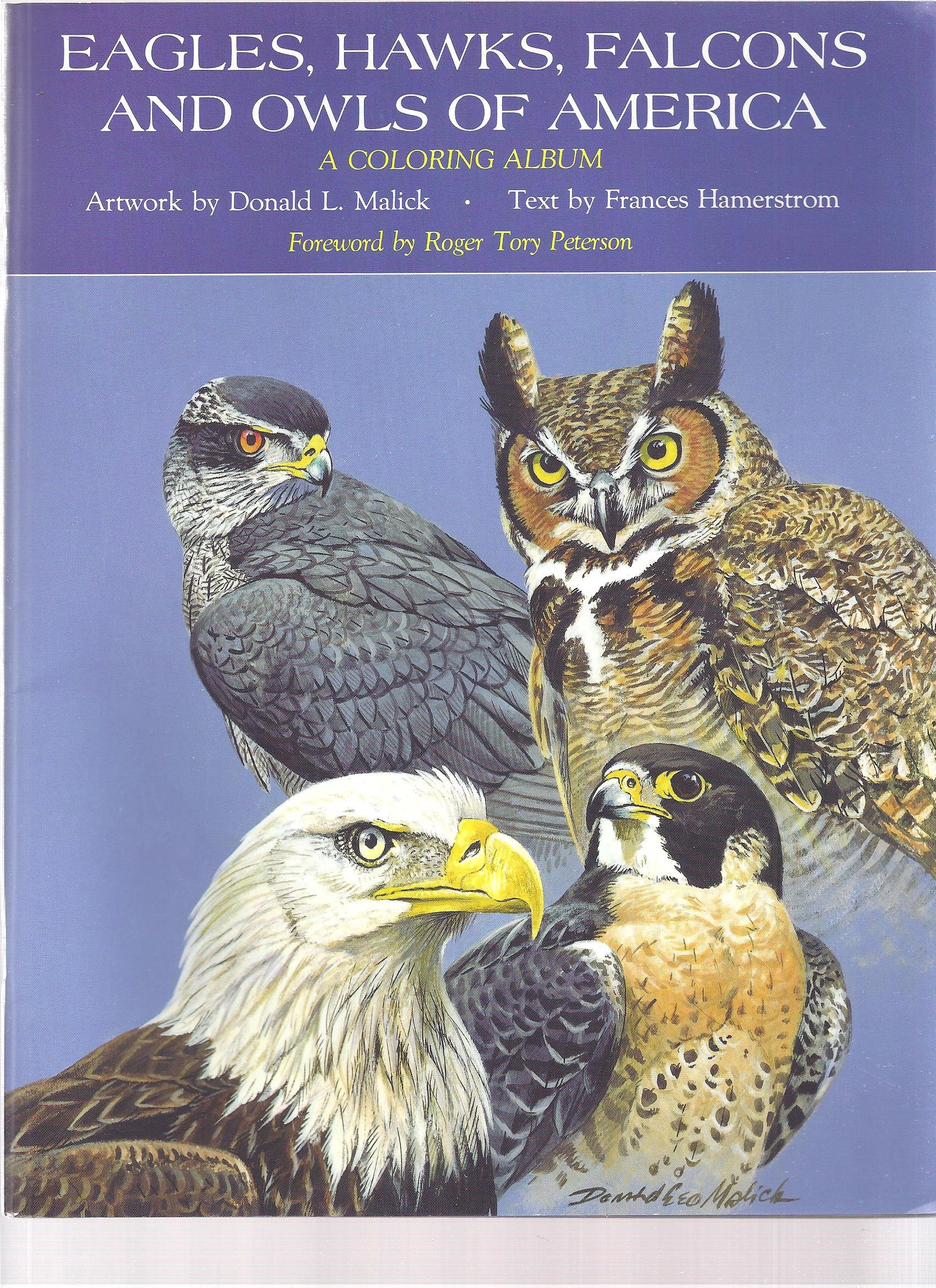 Eagles, Hawks, Falcons and Owls of America: A Coloring Album, Hamterstrom, Frances