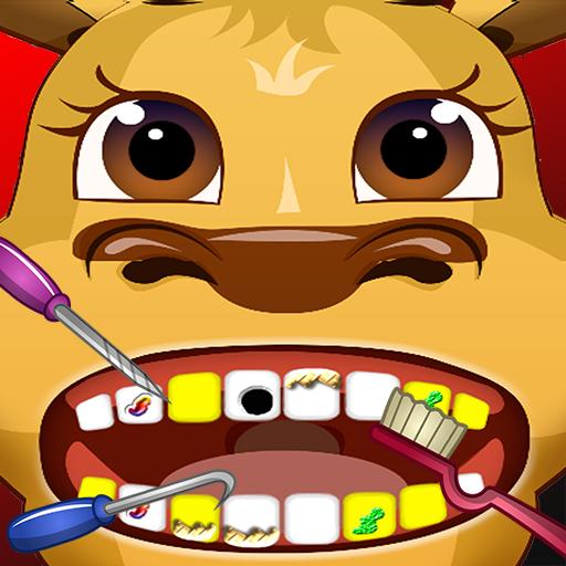 Santa's Reindeer Dentist Office Salon Dress Up Spa Game - Fun Christmas Holiday Games for Kids, Girls, Boys