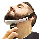 Aberlite Beard Shaper - FlexShaper Neckline Guide - Hands-Free & Flexible - The Ultimate Neckline Beard Shaping Template (White)- Beard Trimmer Tool - Lineup Stencil Kit (Color: white)
