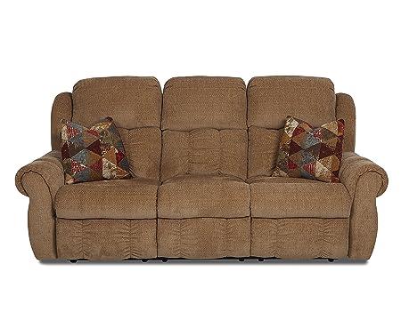Klaussner Rowling Reclining Sofa, Cashew/Autumn
