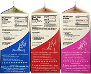 Cotton Candy Floss Sugar-Blue Raspberry, Pink Vanilla & Cherry- 3.25 lbs. (3 pack) (Color: Pink-blue-cherry)