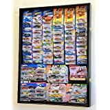 Hot Wheels / Matchbox for cars in retail boxes Display Case Cabinet w/ UV Door, Black by Unknown (Color: Black)