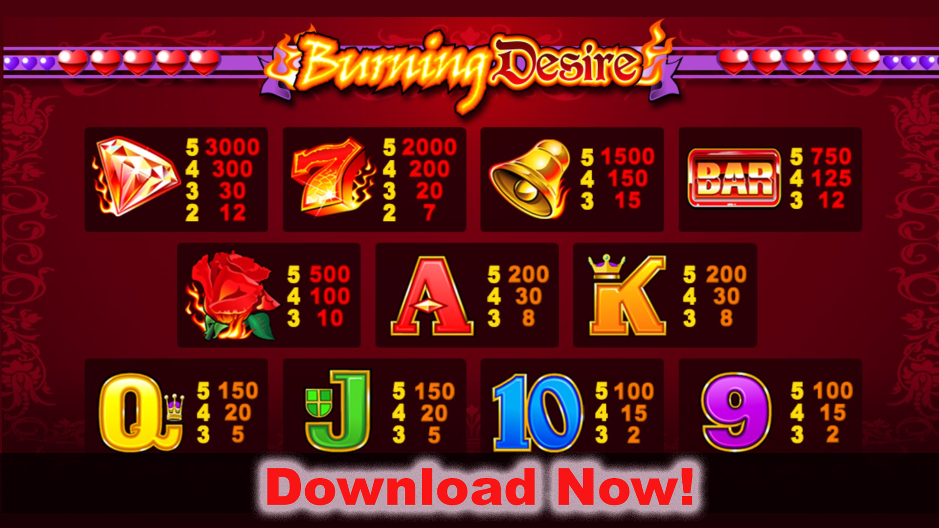 Burning Desire slot will satisfy your desire at Casumo