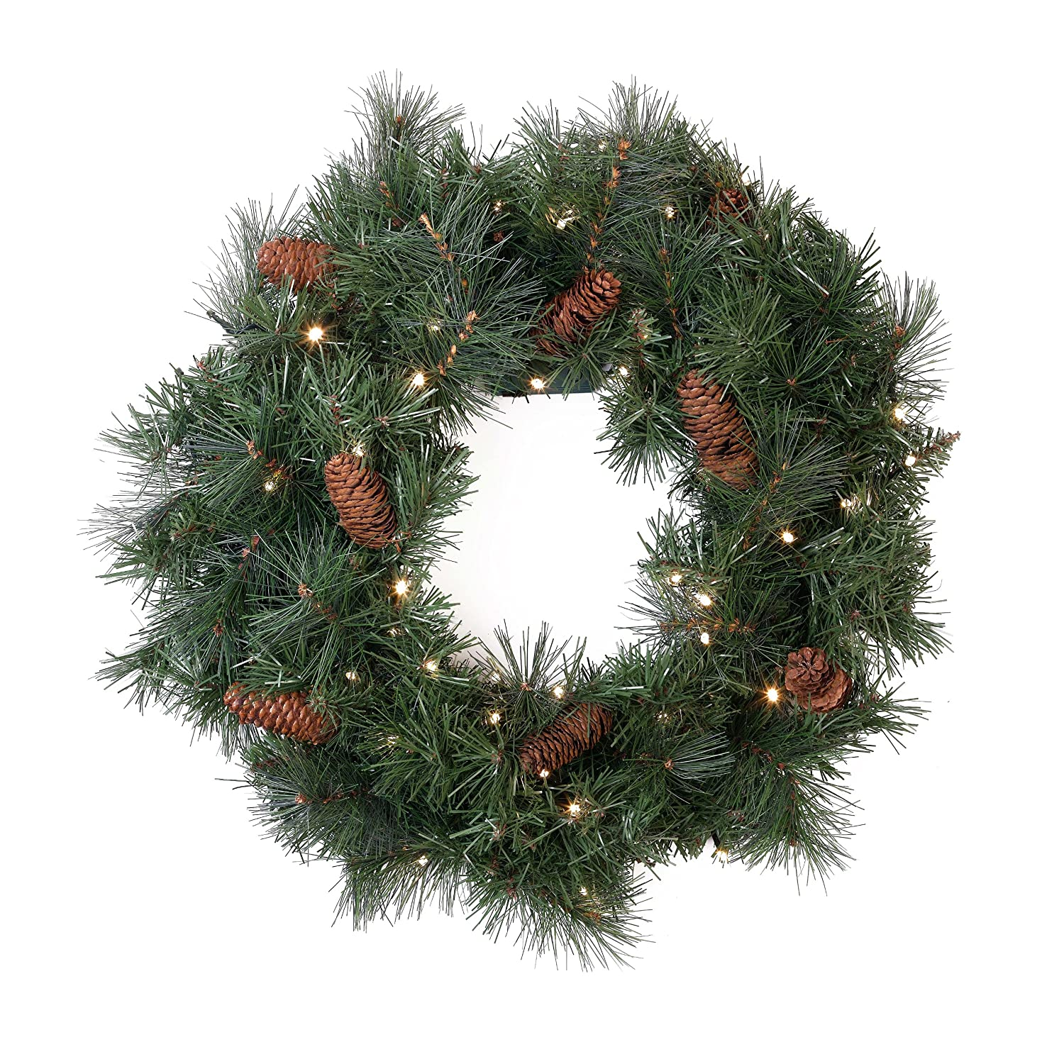 Bethlehem lights wreath battery operated - 24 Georgetown Spruce Battery Operated Led Christmas Wreath W Color Changing Lights
