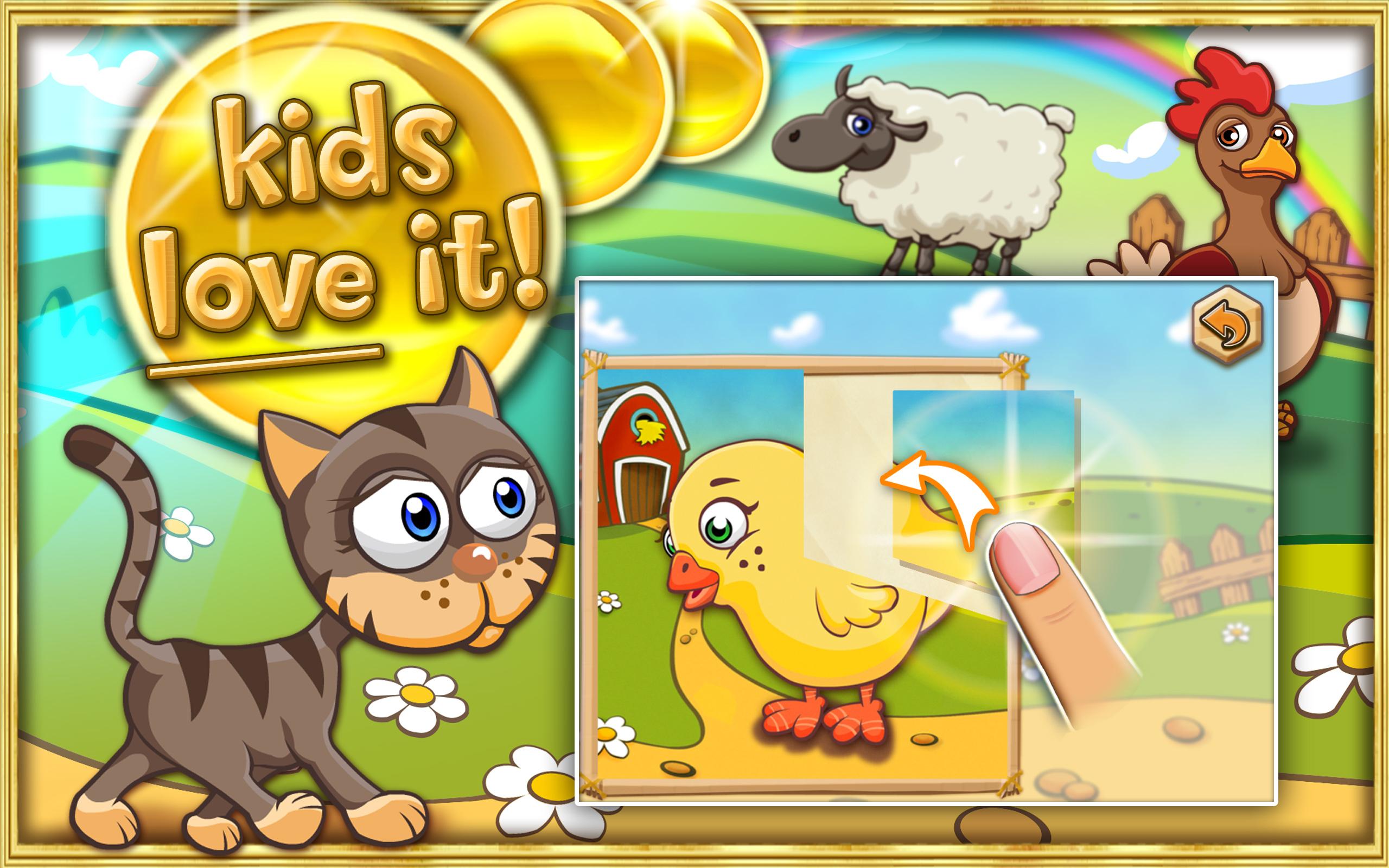 Puzzle d'animaux ferme pour enfants et petits-enfants HD