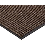 NoTrax 109S0023BR 109 Brush Step Entrance Mat, for Lobbies and Indoor Entranceways, 2' Width x 3' Length x 3/8