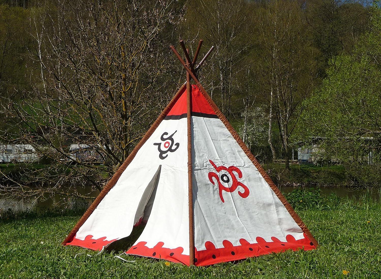 KINDER Tipi Wigwam Indianerzelt mit ALU-Stangen 183 x 137cm Top Qualität jetzt kaufen