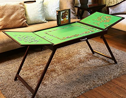 Puzzle Piece Table Puzzle Storage Table For