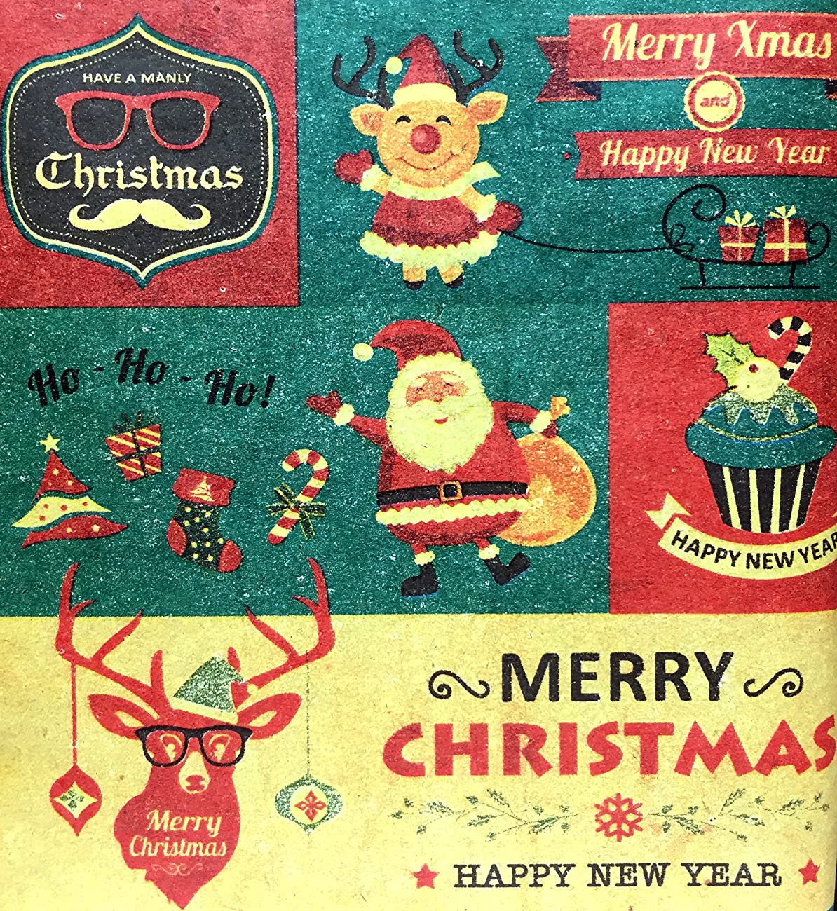 Retro Prints CHRISTMAS KRAFT WRAPPING PAPER (30 inches x 15 feet) 3