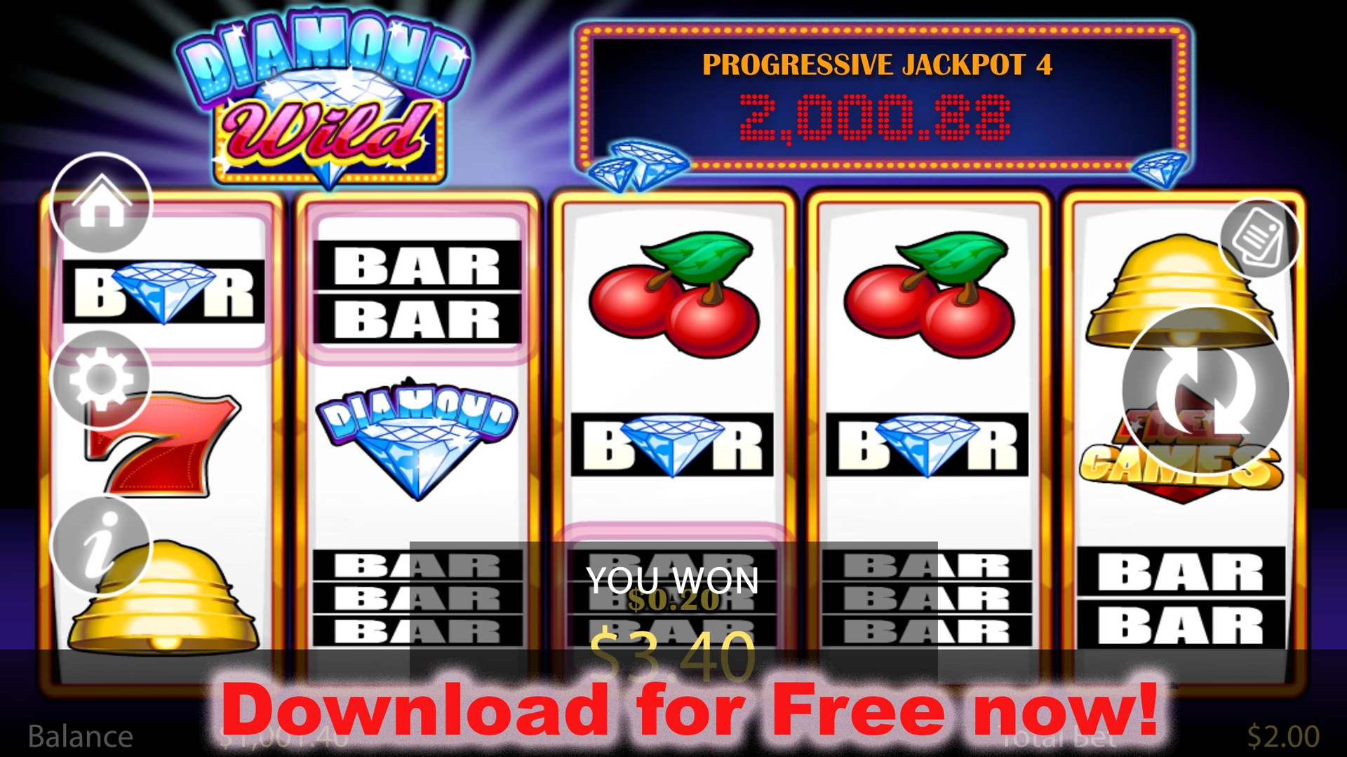 Amazons Diamonds Slot Review & Free Instant Play Casino Game