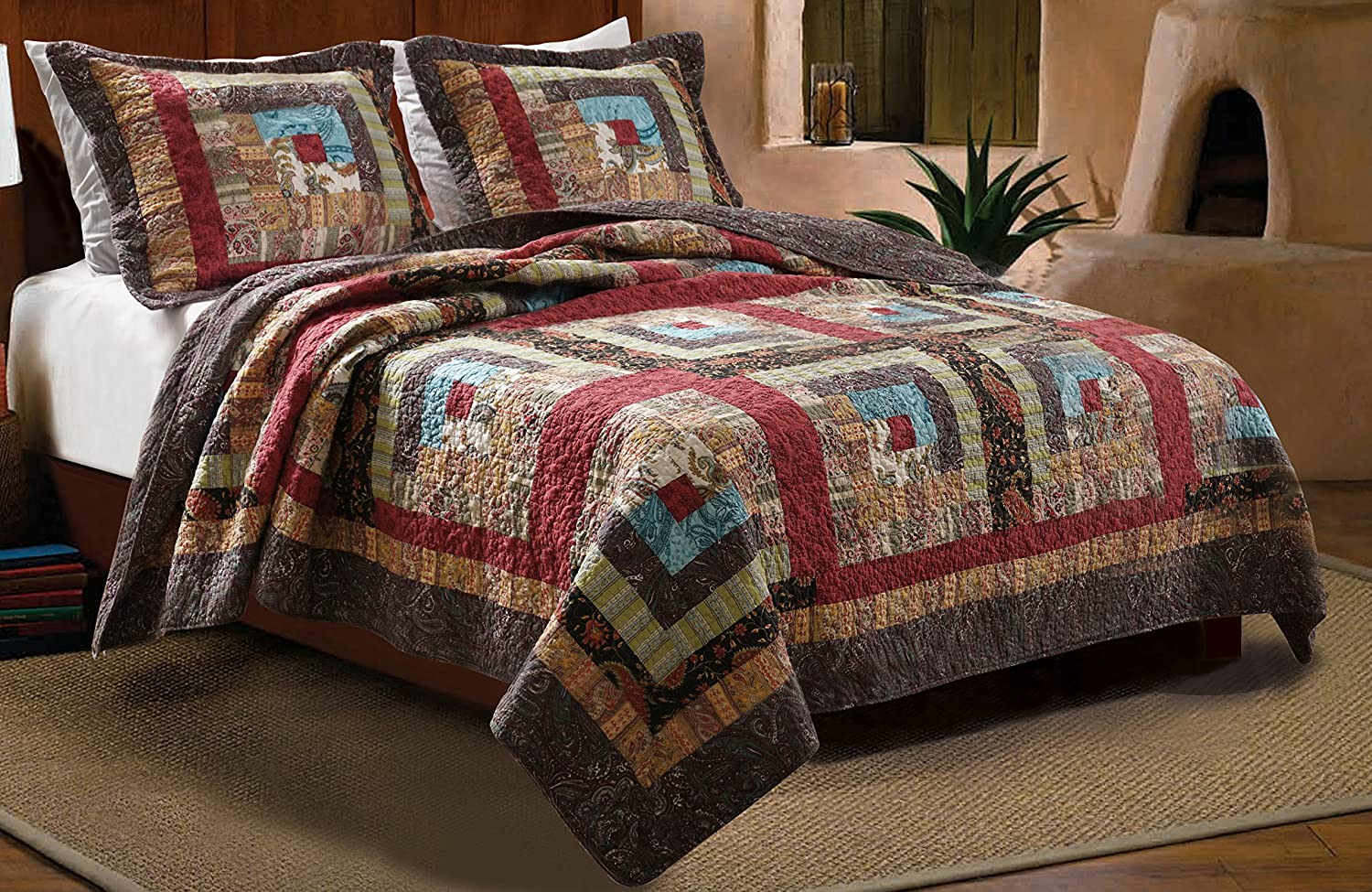 Bed sheet set with quilt - Discount King Rustic Bedding