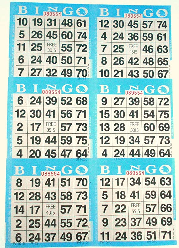4 cards 50 books of 10 sheets SmallToys Bingo Paper Game Cards 10 sheets