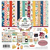 Carta Bella Paper Company CBOH94016 Our House Collection Kit Paper Blue/Red/Plack/Teal/Plum/Green (Color: Blue/Red/Plack/Teal/Plum/Green, Tamaño: 12-x-12-Inch)