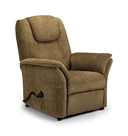 Julian Bowen Riva Rise and Recliner in Soft Chenille Fabric, Cappuccino