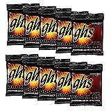 GHS Strings GHS Boomers Roundwound Electic Guitar Strings Medium GBM 10 Pack (11-50) (Tamaño: Medium)
