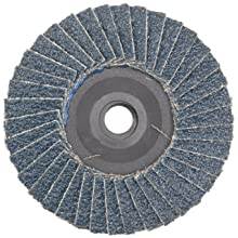 "Weiler 50903 BobCat 3"" Diameter, 40 Grit, Zirconium, Plastic Backing, Type 29 Specialty Abrasive Flap Mini Disc"