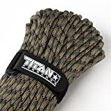 TITAN WarriorCord | FOREST-CAMO | 103 CONTINUOUS FEET | Exceeds Authentic MIL-C-5040, Type III 550 Paracord Standards. 7 Strand, 5/32