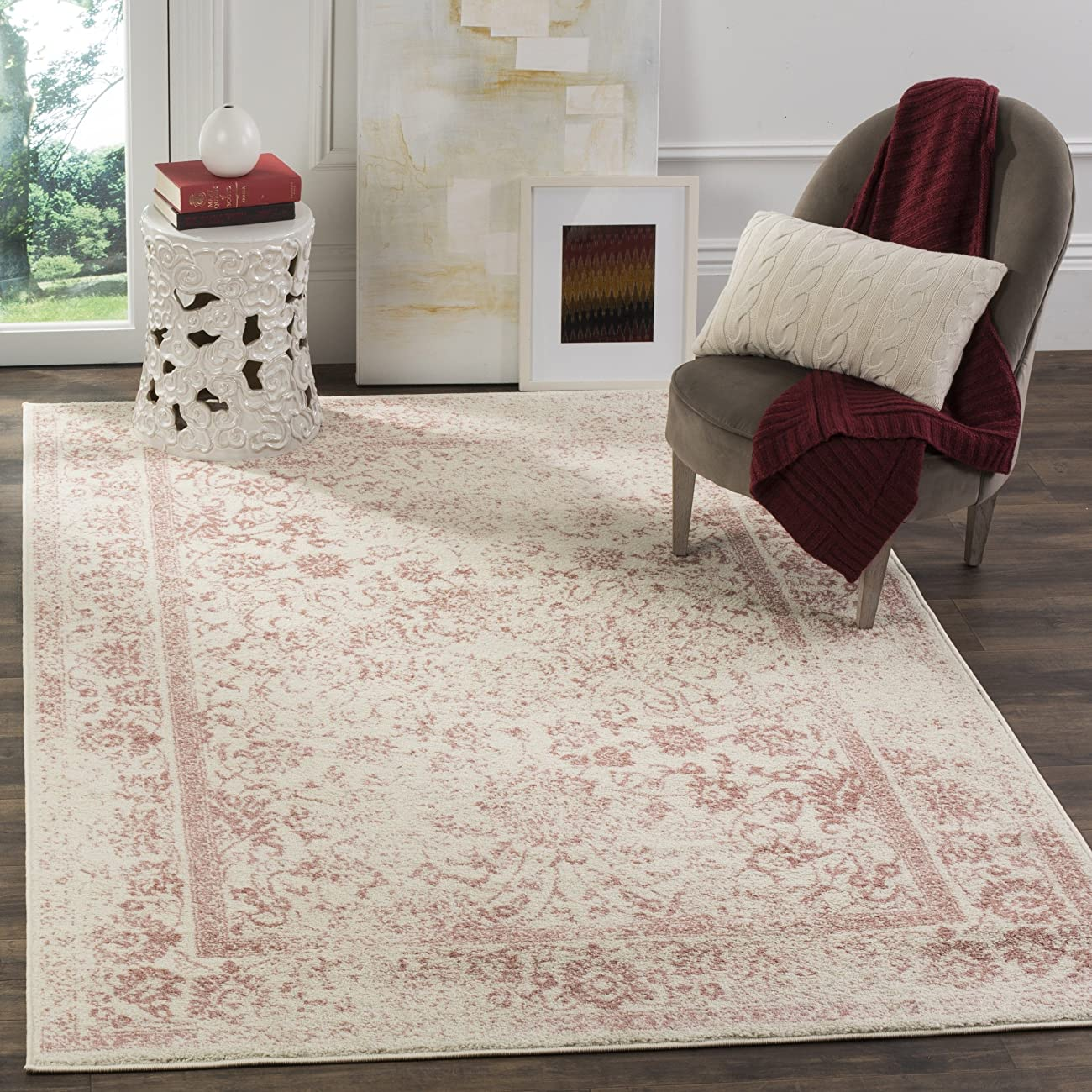 Safavieh Adirondack Collection ADR109H Ivory and Rose Oriental Vintage Area Rug (8' x 10') 0
