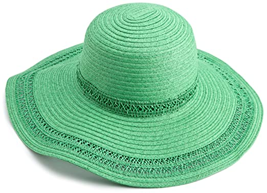 collection eighteen Women's Spring Solid Floppy Hat, Fresh Green, One Size