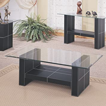 Coaster Home Furnishings 3897 Contemporary Coffee Table, Black
