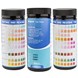 Drinking Water Test Strip Kit 9 in 1 (100 Strips) - Easy and Fast Quality Testing of Tap or Well Waters at Home | Determining the Amount of Alkaline pH, Chlorine Hardness, Bromine and Nitrate Content
