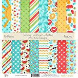 Pattern Paper Pack - Summer Fun - Scrapbook Premium Specialty Paper Single-Sided 12