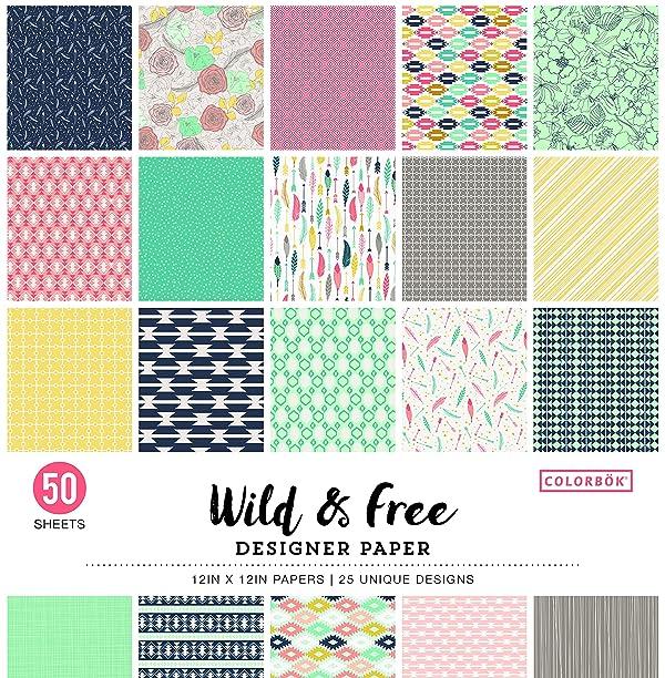 Colorbok Designer Paper Pad 12 x 12 Wild & Free