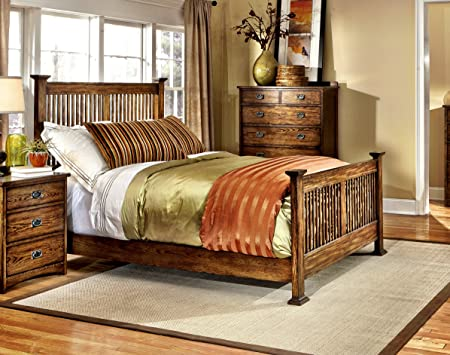 "Oak Park Queen Bed (W-65.6"" D-81.9"" H-55.9"")"